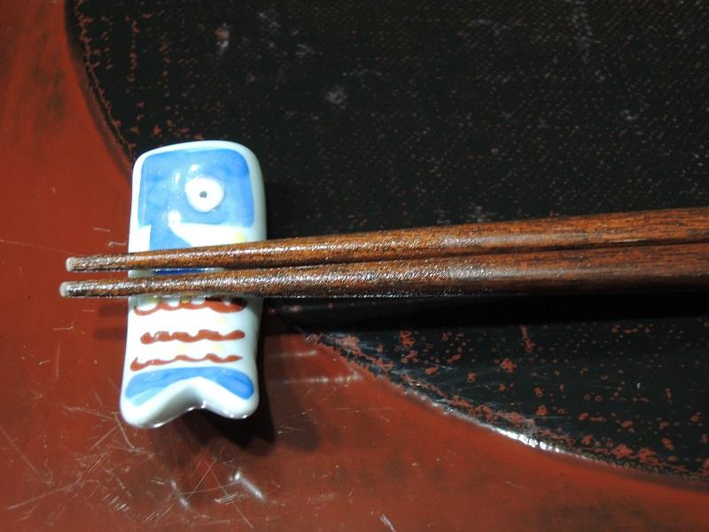 鯉のぼりのお箸置きと箸