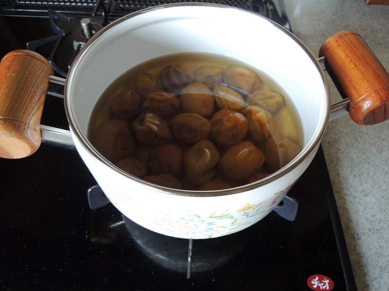 梅酒の梅で甘露煮 その1