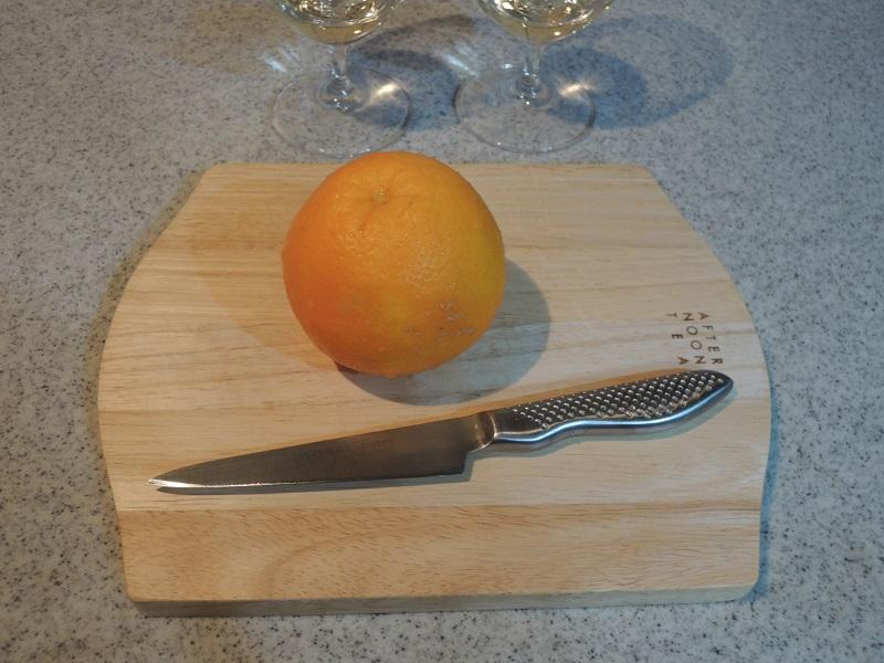 オレンジを飾ります