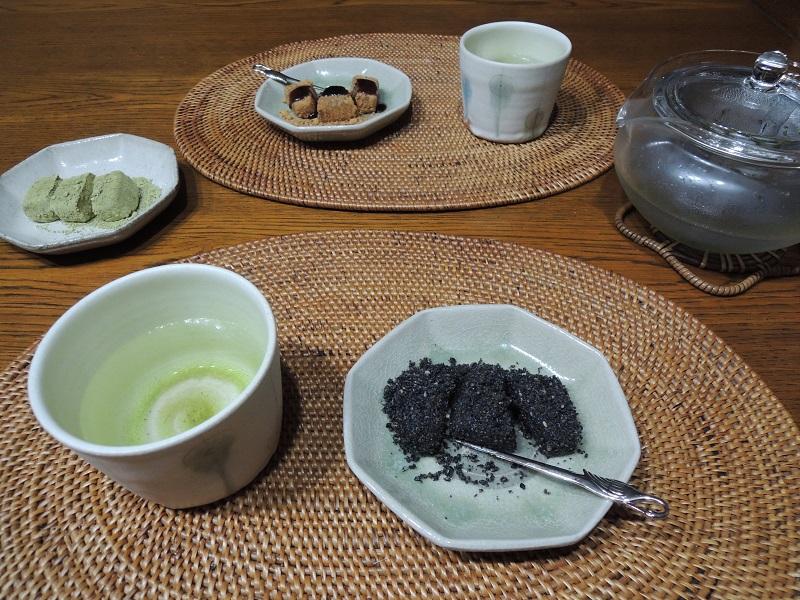 叶匠寿庵さんのあかいとお茶