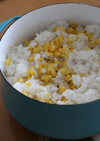 トウモロコシご飯1