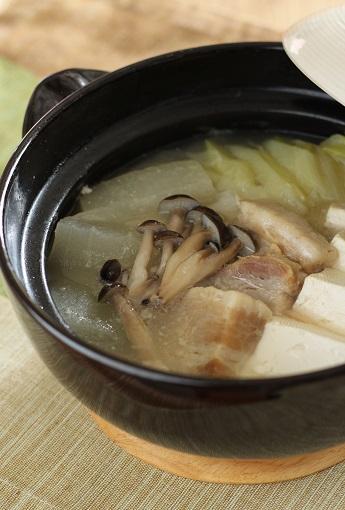 塩豚と冬瓜とお豆腐の煮込み