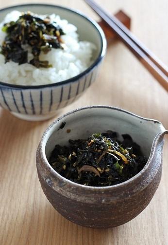 葉唐辛子の佃煮のせご飯2