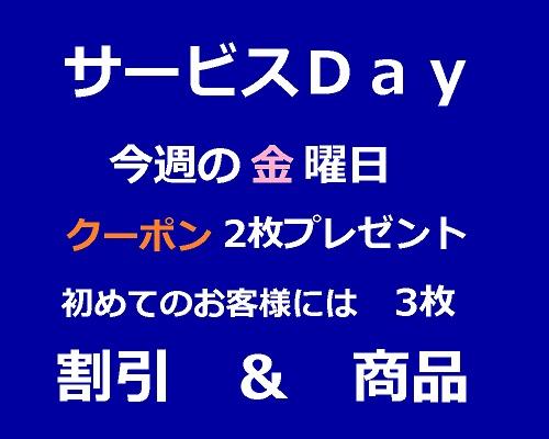 サービスDay 金201