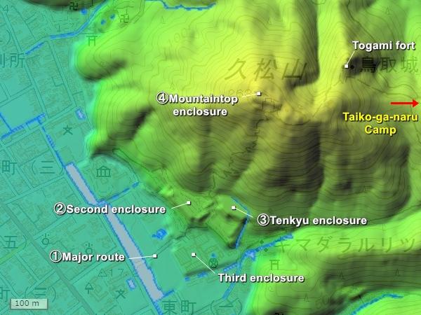 Tottori Castle Topography