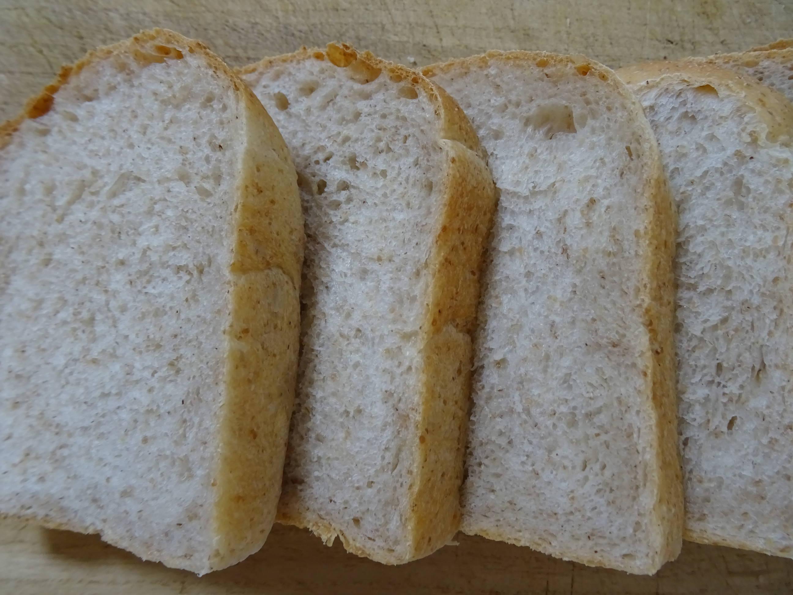 酵母の山食パン2