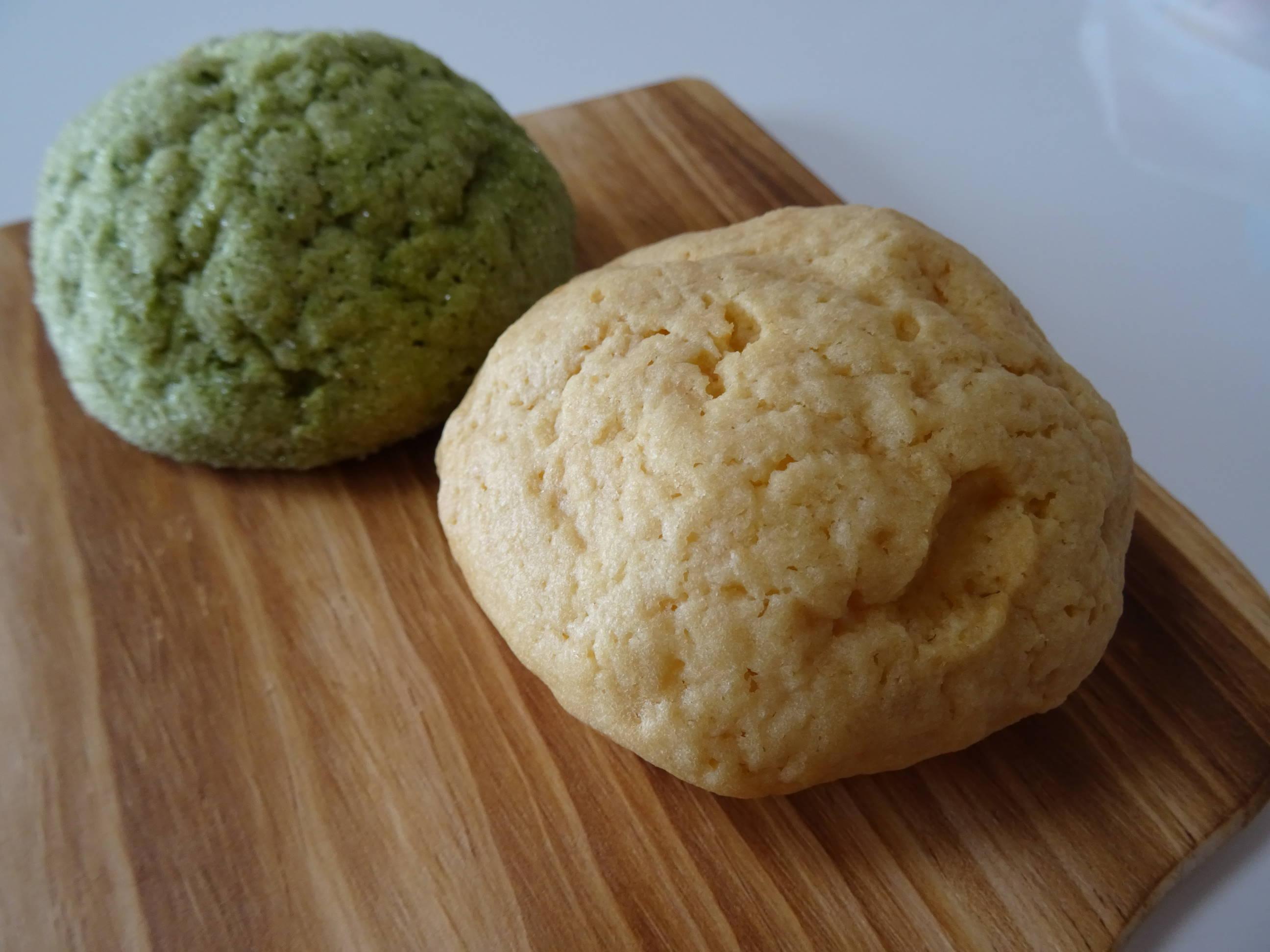 メープルメロンパン&抹茶メロンパン2