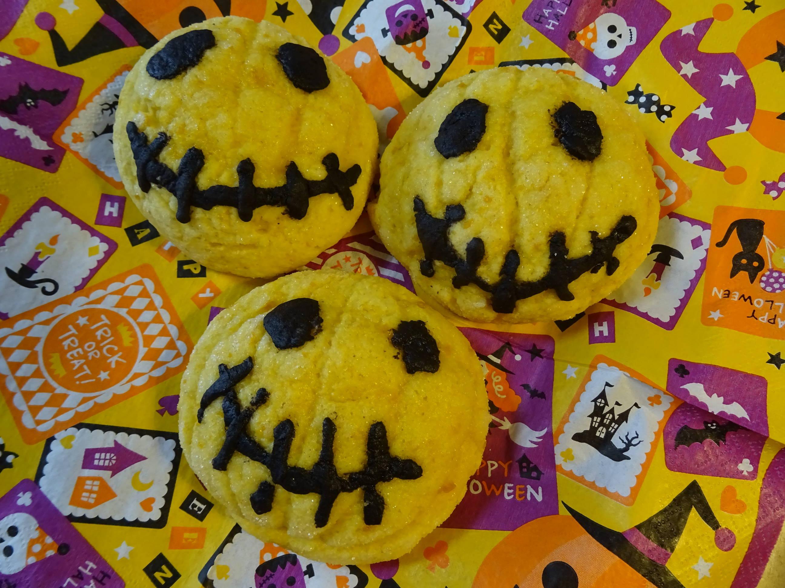 ハロウィンに!かぼちゃのメロンパン