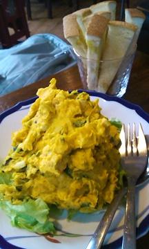南瓜サラダとトースト