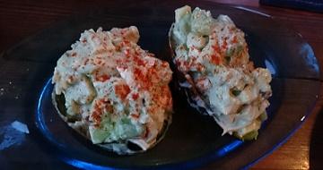 島豆腐とアボカドのサラダ