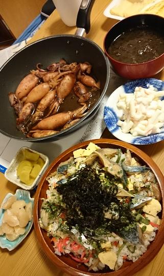 イカさんとサバちらし寿司