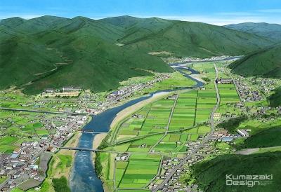 分譲地 土地 宅地 鳥瞰パース 航空写真 完成予想図 手書きパース 手描きパース フォトショップ着色 photpshop