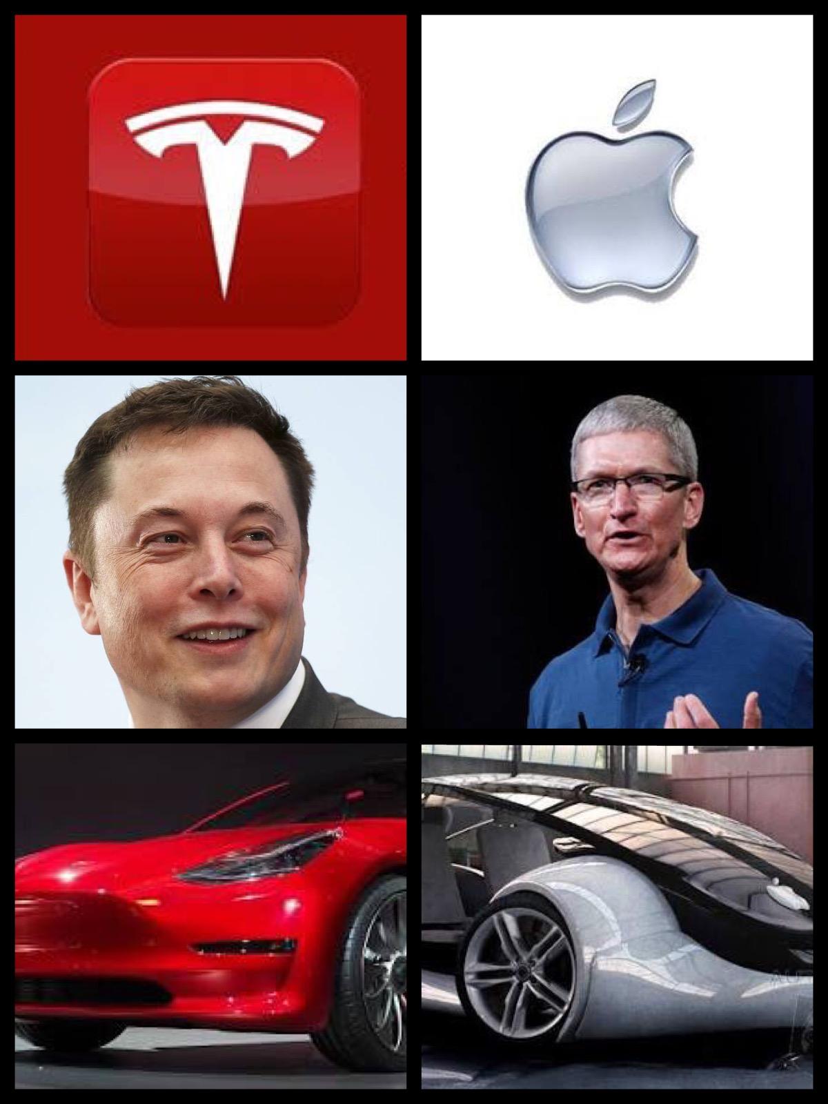 テスラ vs アップル EV直接競合