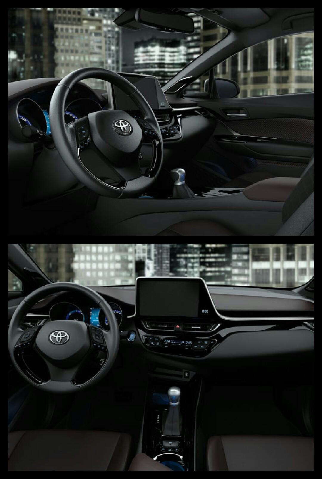 トヨタC-HR インテリア 横置き液晶モニター