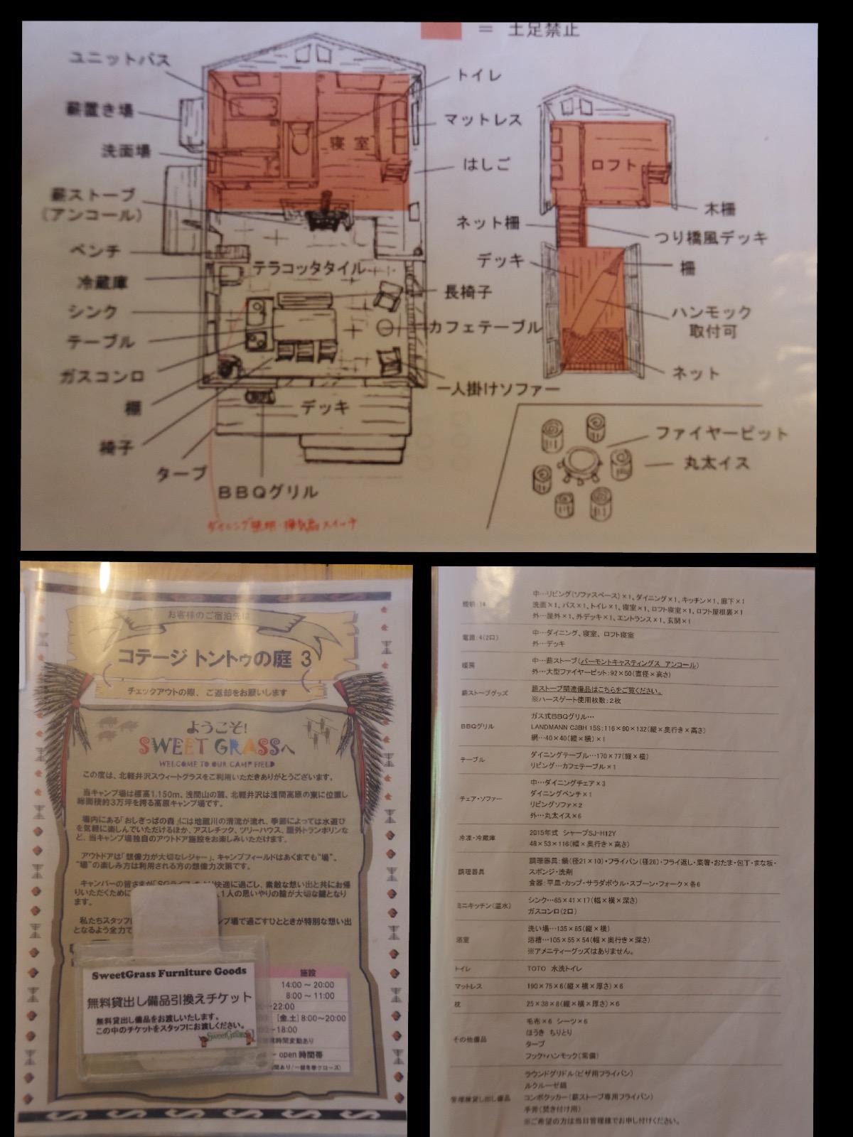 北軽井沢スウィートグラス トントゥの庭 室内レイアウト