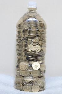 500円玉貯金、満額!(3回目)