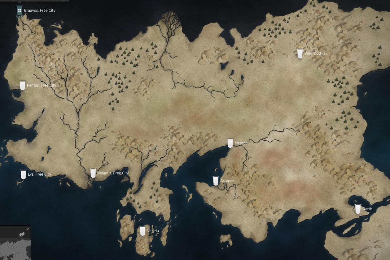 ゲーム・オブ・スローンズの中でも、デナーリスは最も長い距離を旅している人物です。