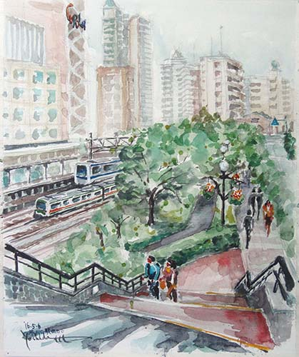 JR川口駅西口で F8