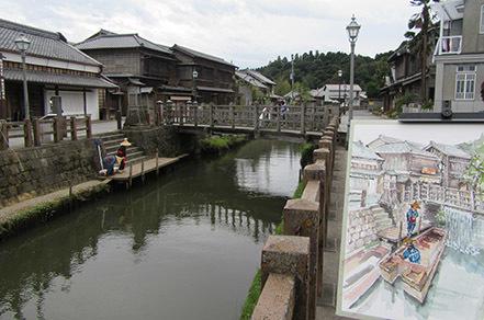 佐原(樋橋・船と水)でスケッチ