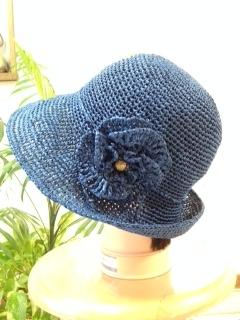 リーフィー帽子 紺