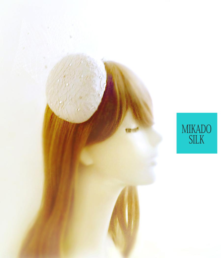 ミカドシルク 【絹100%silk】 カクテルハット ヘッドドレス ウェディング8