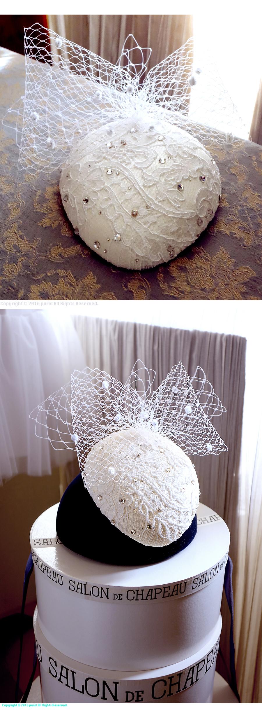 ★6  ミカドシルク 【絹Silk100%】 カクテルハット ヘッドドレス ウェディング