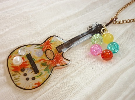花柄ギターアクセサリー2