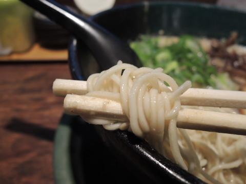 塩とんこつ(こってり)の麺