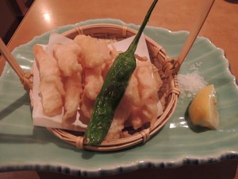 カニ身の天ぷら(734円)