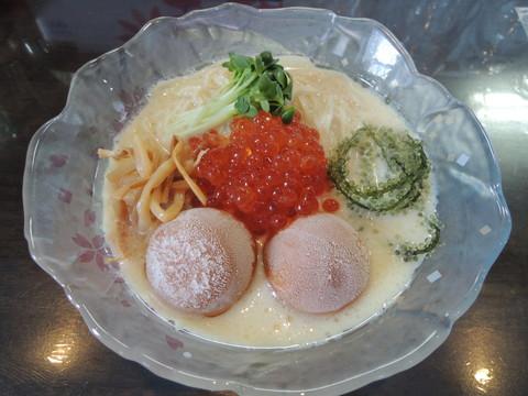 特製豆乳冷しらぁ麺(ウニ氷)(1600円)