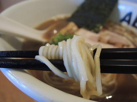 にぼしラーメンの麺