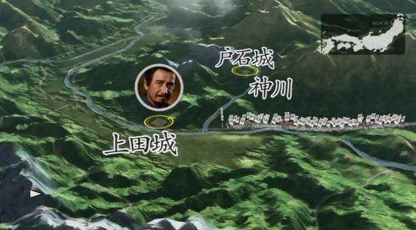 上田城に攻めてくる徳川軍・地図 真田丸