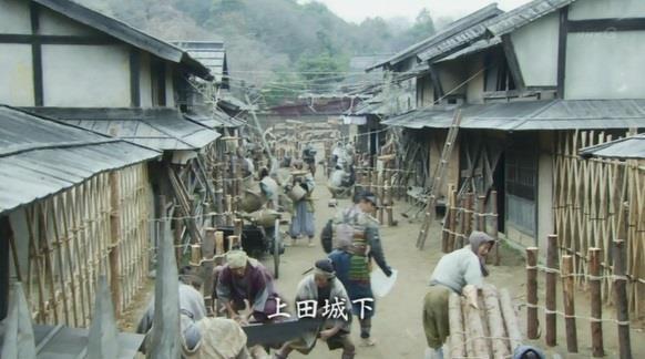 上田城の城下町に工事 真田丸