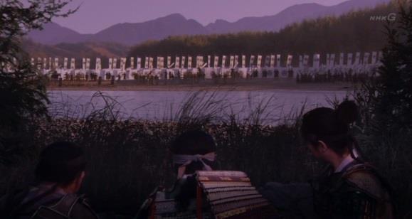 徳川軍を偵察する信繁たち 真田丸