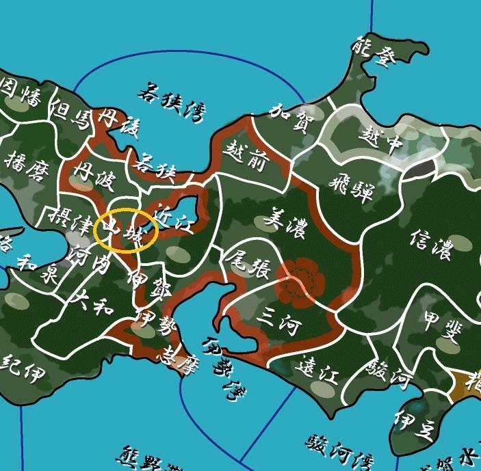 京都のある山城の国周辺は過大に石高が高いと評価