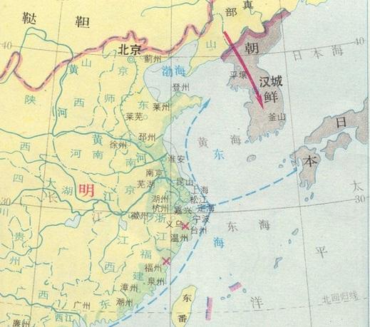 戦国時代のアジア 地図