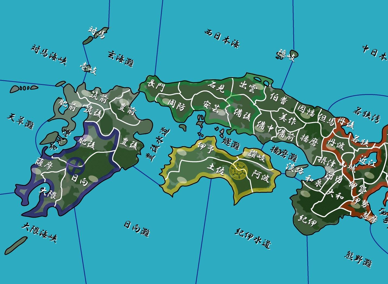 瀬戸内海周辺 日本地図