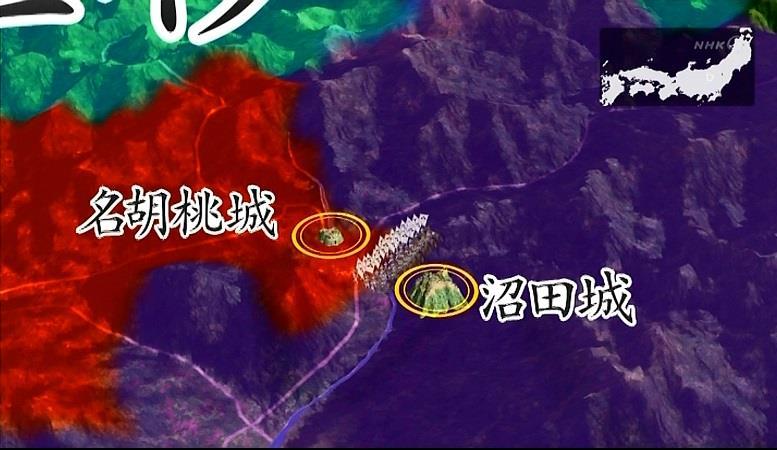北条家滅亡前地図 真田丸