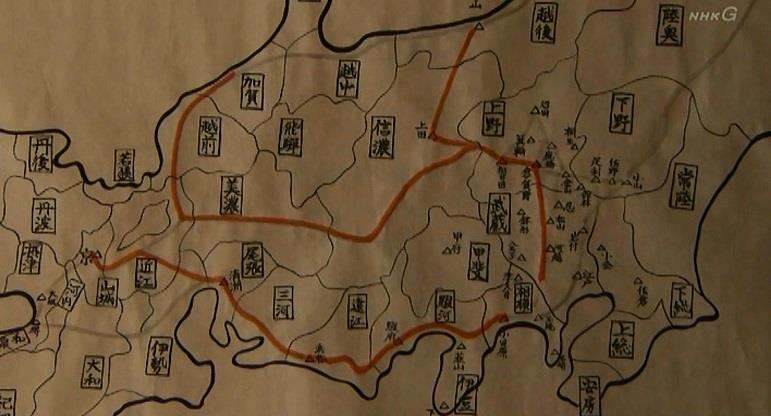 地図 北条攻め 真田丸