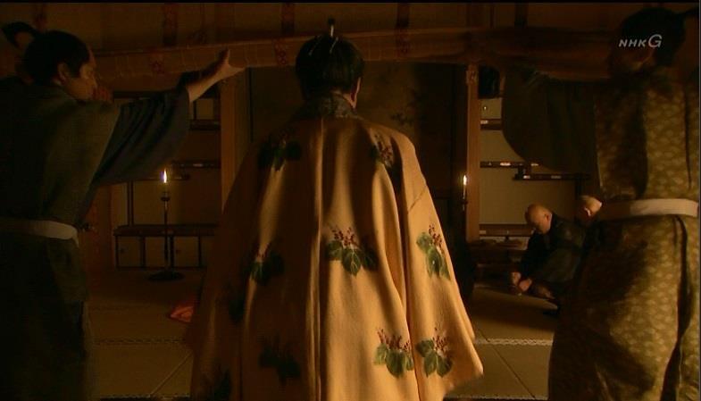 鶴松を見舞う秀吉と薬師たち 真田丸