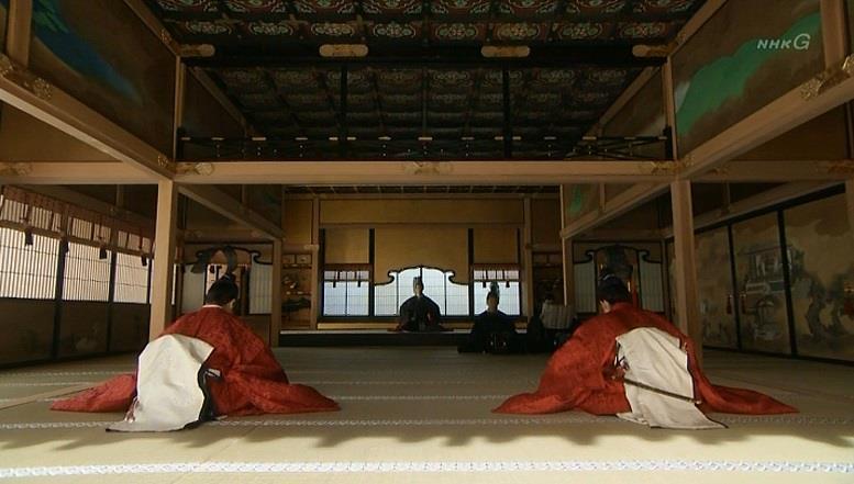 「文禄3年11月2日。京の聚楽第(じゅらくてい)において、信幸・信繁兄弟は、揃って叙任(じょにん)された」ナレーション 真田丸
