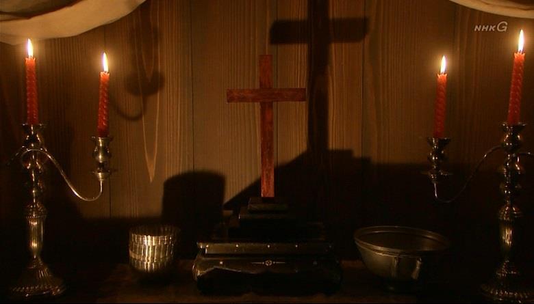 豊臣秀次の部屋には隠し部屋があり、中には十字架が祀られていました 真田丸