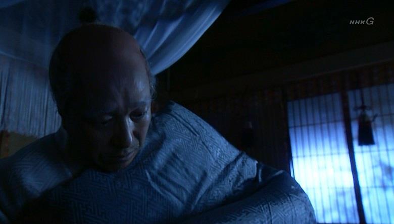 寝小便をしてしまって目が覚める豊臣秀吉 真田丸