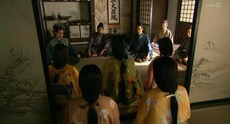 上杉景勝につくと一族に発表する真田親子 真田丸