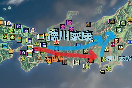 徳川軍と石田軍の動き・地図 真田丸