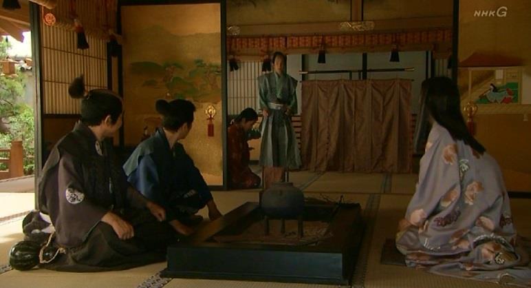 寧に挨拶する信繁とそこに現れた小早川秀秋 真田丸