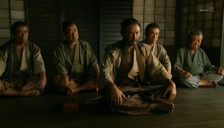 九度山の長兵衛と村人 真田丸