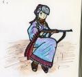 ライフルと民族衣装1カラー