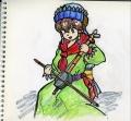 民族衣装と弦楽器1