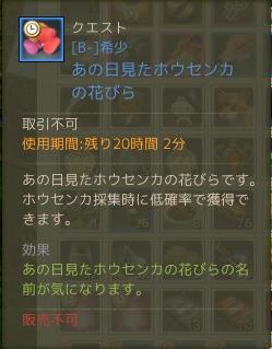 6月14日イベントの花びら